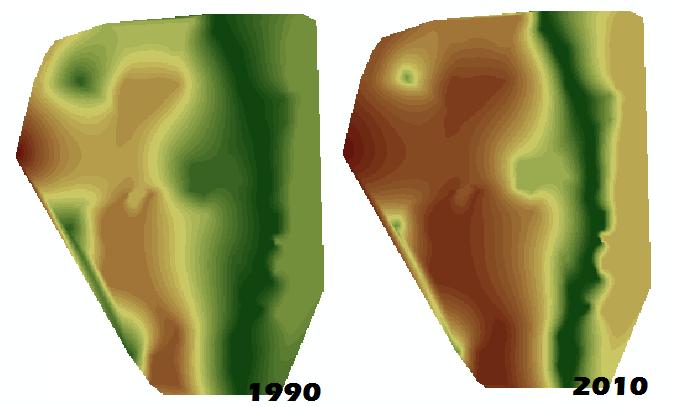 Cambios de cobertura vegetal ArcGIS