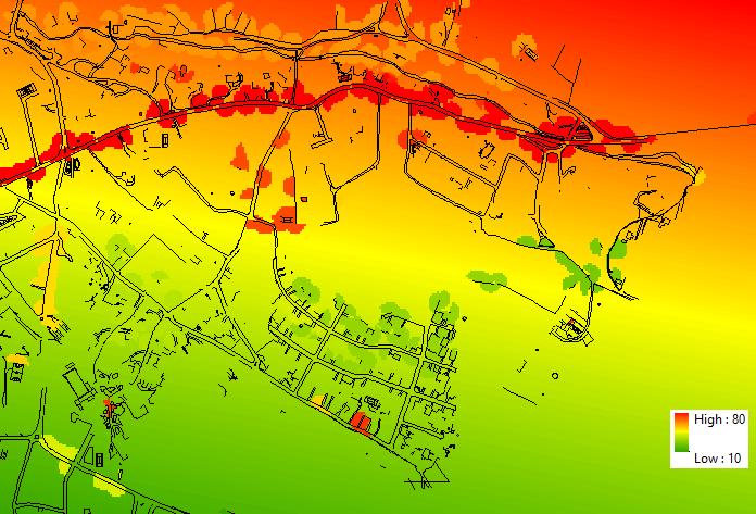 Mapa de ruido ArcGIS